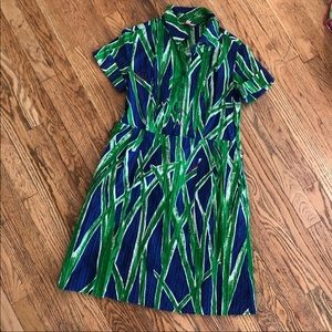 Lilly Pulitzer Navy Blue Dress with Grass Print